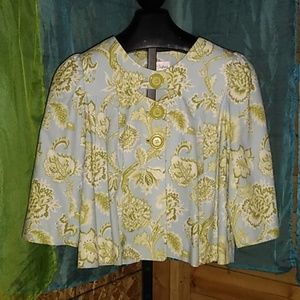 3 sisters gorgeous floral swing jacket Large
